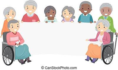 La bandera de Stickman Seniors