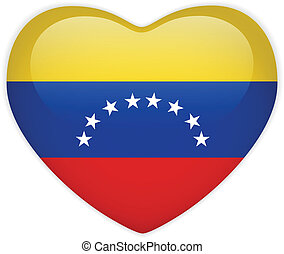 La bandera de Venezuela es un botón brillante