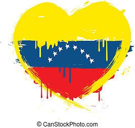 La bandera de Venezuela grunge