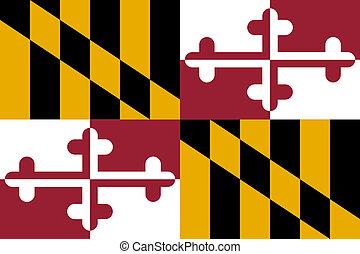 La bandera del estado de Maryland