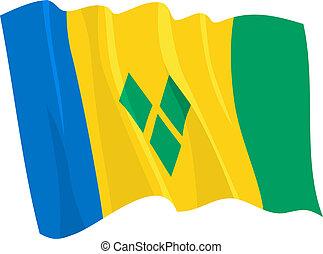La bandera del santo Vincent