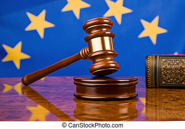 La bandera del sindicato de Gavel y Europa