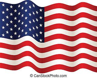 La bandera del vector USA