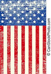 La bandera grunge americana