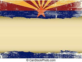 La bandera rayada horizontal de Arizona