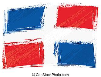 La bandera republicana grunge dominica
