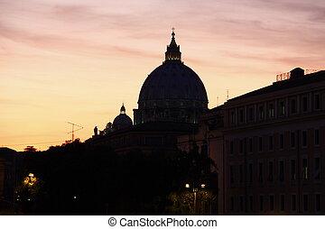 La basílica de San Pedro en Vatican