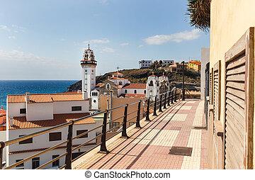 La basílica del santuario marítimo real de nuestra señora de Candelaria. Tenerife, spain.