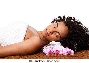 La belleza se relaja en el spa