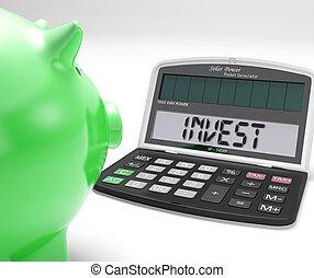 La calculadora de inversiones muestra que invierte en acciones de mercado