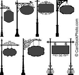 La calle del marco de la señal