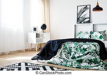 La cama en diseño de plantas