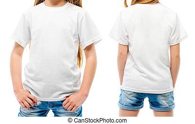 La camiseta blanca del chico