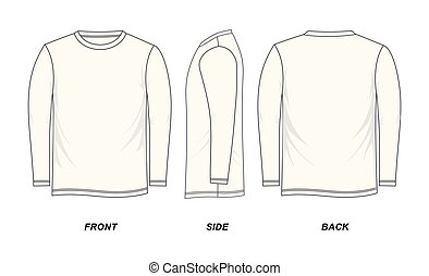 La camiseta de manga larga