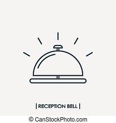 La campana de recepción esboza el icono