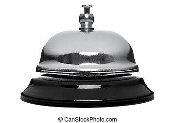 La campana de recepción está aislada en blanco