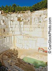 La cantera de mármol blanco de Thasos
