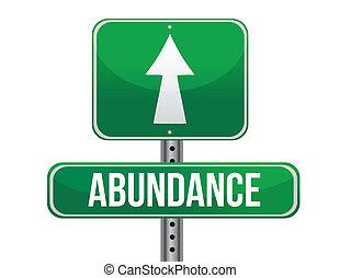 La carretera de Abundance indica diseño de ilustración