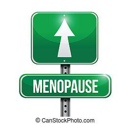La carretera de la Menopausia indica diseño de ilustración