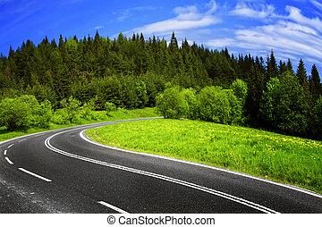La carretera de montaña
