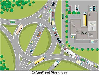 La carretera de tráfico