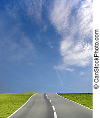 La carretera del cielo azul