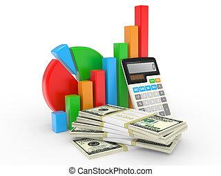 La carta de negocios muestra éxito financiero en la bolsa