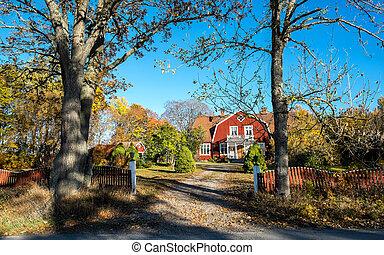 La casa de campo en Suecia