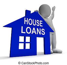 La casa de préstamos muestra pagos prestados e intereses