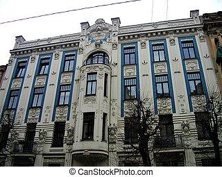 La casa residencial más hermosa del arte nouveau en Riga
