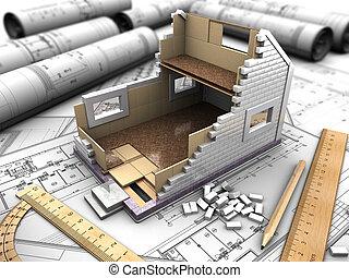 La casa y los dibujos