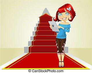 La chica comienza el camino a los éxitos