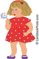 La chica con una flor