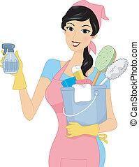 La chica de la limpieza