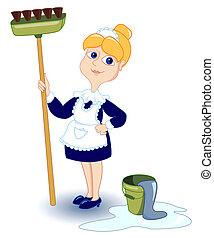 La chica de la limpieza.