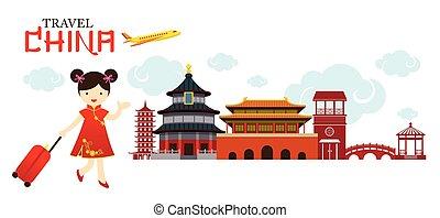 La china viaja por China City