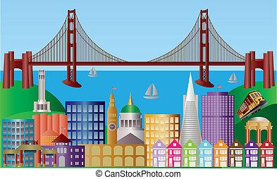 La ciudad de San Francisco ilumina el panorama