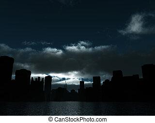 La ciudad oscura tiene luz de luna y de agua