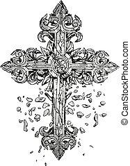 La clásica ilustración cruzada