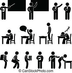 La clase de maestros de escuela
