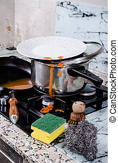 La cocina es un desastre