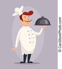 La cocinera de dibujos animados