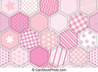La colcha rosada