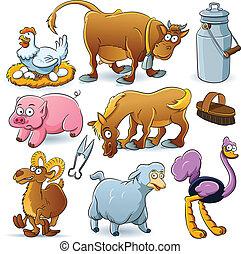 La colección de animales de granja