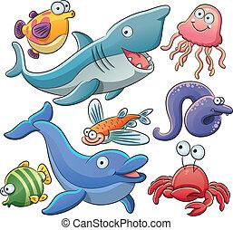La colección de animales marinos