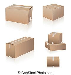 La colección de cajas de camuflaje