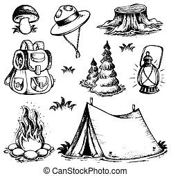 La colección de dibujos al aire libre
