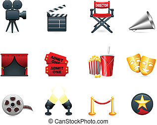 La colección de iconos de cine y cine