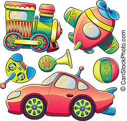 La colección de juguetes de transporte