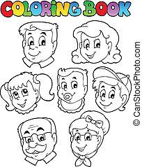 La colección de libros de color 3